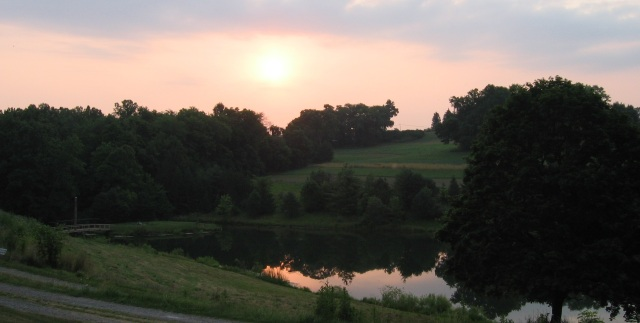 Sunrise at Olney, the site of Friends Center in Barnesville, Ohio