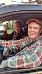 Dan and Bernie in truck