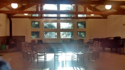 Redwood Lodge before morning session 2